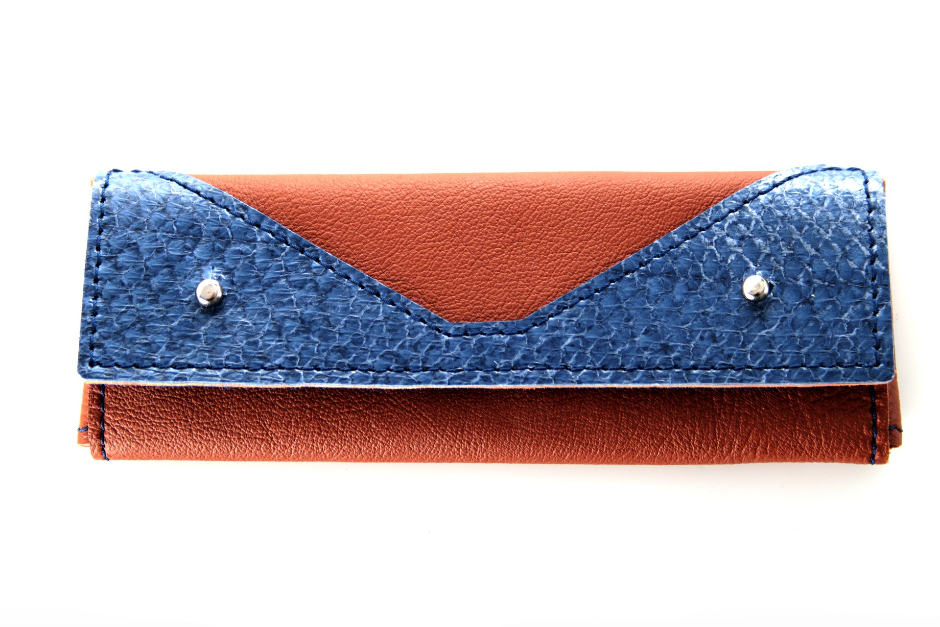 Leder-Etui Skripta Blue Earth vorn