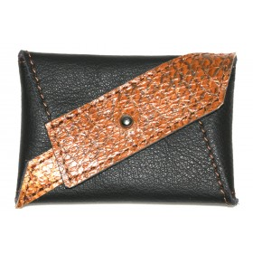Leder-Etui Diagonia Black-Toffee