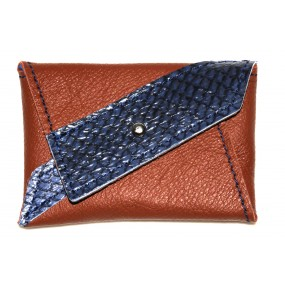 Leder-Etui Diagonia Blue Earth vorn